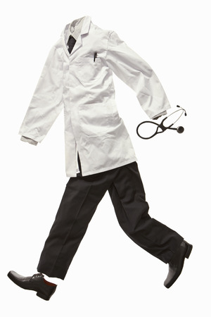 A doctors clothes running