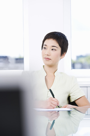 A young asian businesswoman