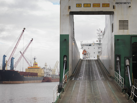shipped: Ramp On To Ship At Port