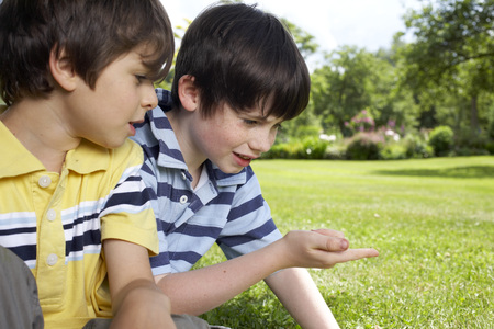 appendage: Kids playing in garden