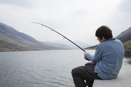 struggled: Fishing on the loch LANG_EVOIMAGES