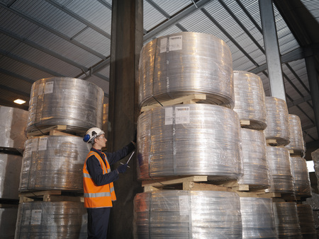 Port Worker Checking Cargo LANG_EVOIMAGES