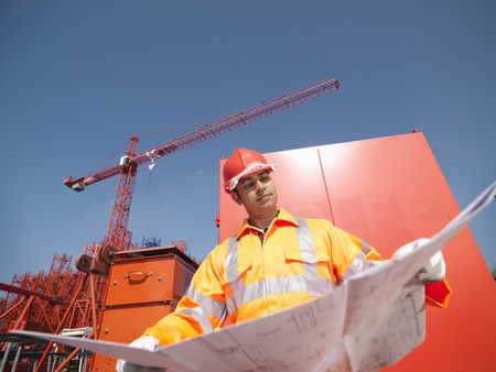 review site: Crane Worker Holding Plans