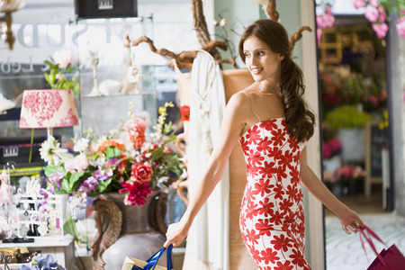 commodities: girl having shopping fun