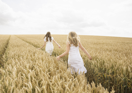 pursued: Girls in wheat field LANG_EVOIMAGES