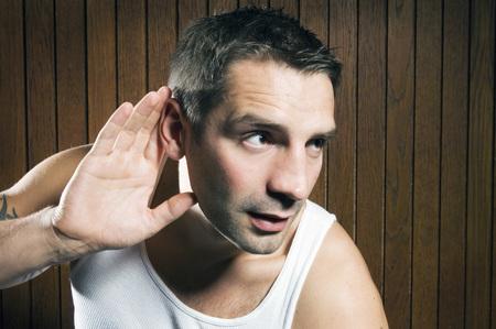 eavesdropper: man listening