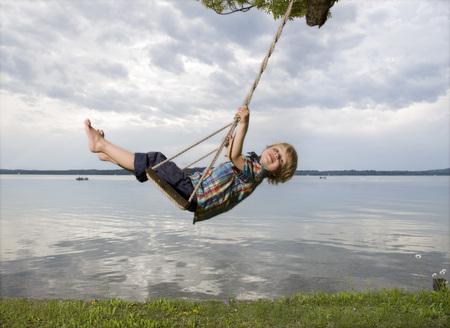 seascapes: boy on swing