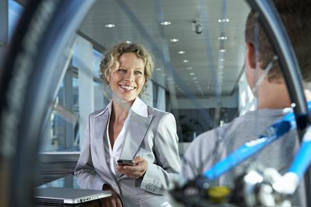 business woman communicating