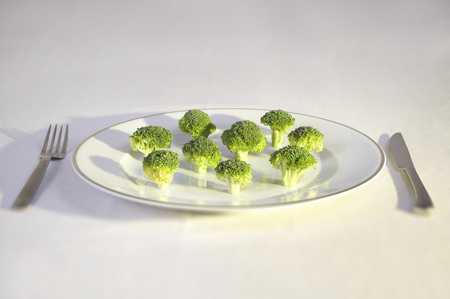 conforms: broccoli on plate