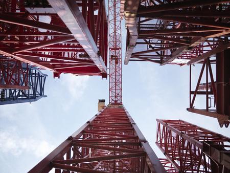 Tower Cranes From Below