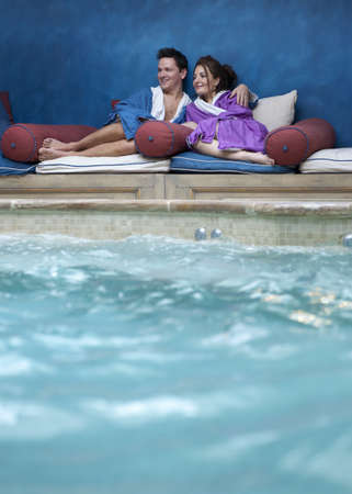passions: couple relaxing at spa