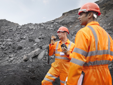 mined: Coal Miners With Walkie Talkie LANG_EVOIMAGES