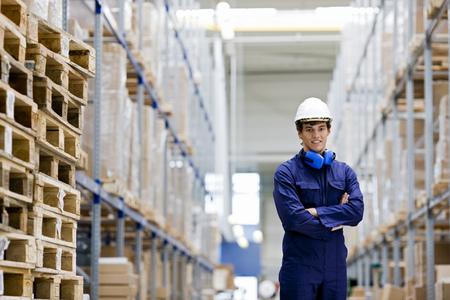 stockmarket: workman in storage