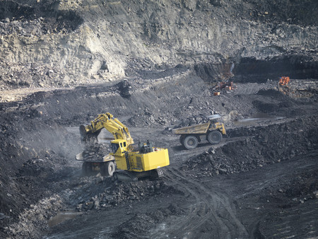 mined: Coal Mine With Diggers