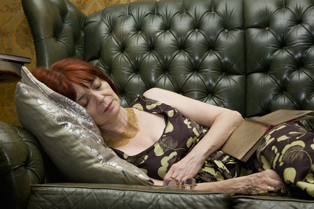 tomes: Mature lady Sleeping on couch
