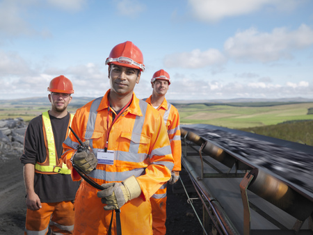 mined: Coal Workers With Conveyor Belt
