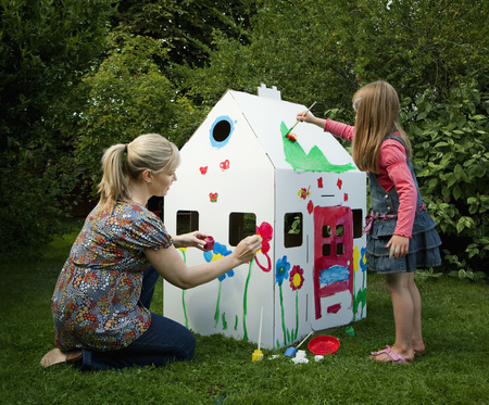 abodes: Mother and daughter painting together