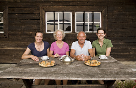 abodes: senior couple and two daughters
