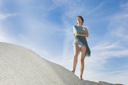 pleasing: Beautiful woman in the sun