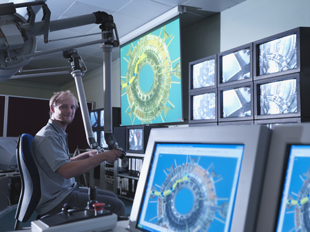 power operated: Fusion Reactor Scientist At Work