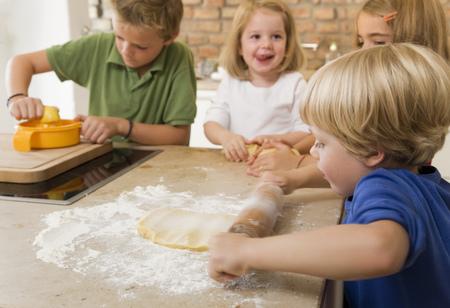 sway: four kids baking cookies