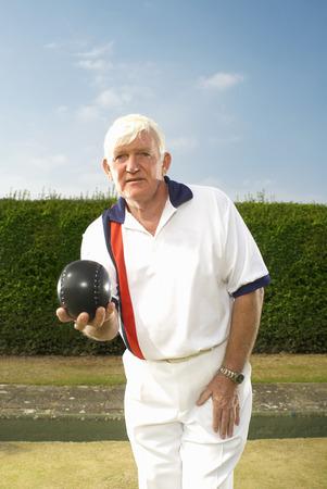 male bowler focussed