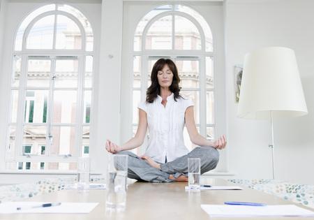 rehearse: Female doing a yoga pose
