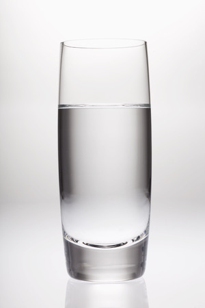 refreshed: Glass of clean water LANG_EVOIMAGES