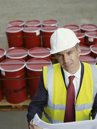 A construction site manager LANG_EVOIMAGES