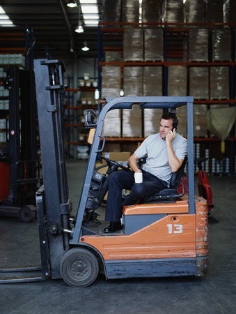 ceasing: A warehouse manager takes a tea break