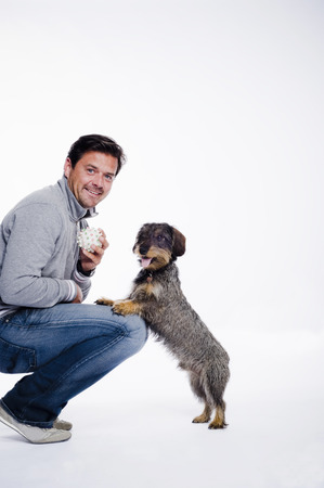 Man and his dog LANG_EVOIMAGES