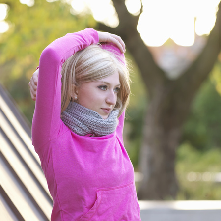 limber: woman stretching