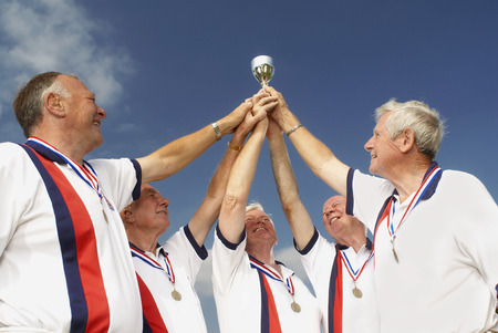 seventy: men and trophy