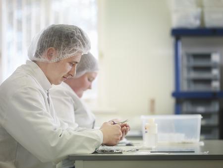 analyses: Laboratory Technician Production Line