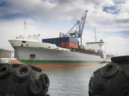 shipped: Container Ship In Port