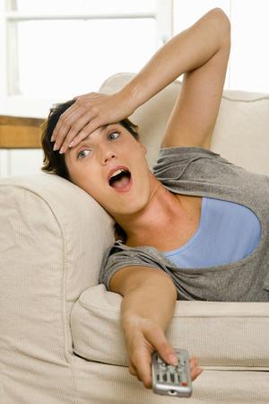 shocks: Woman at home