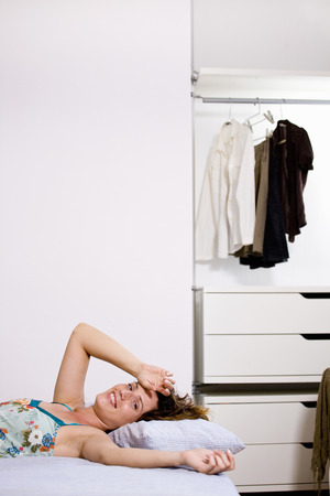 awakened: Woman at home