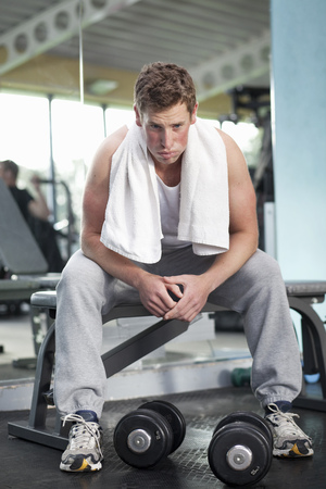struggled: Man in gym