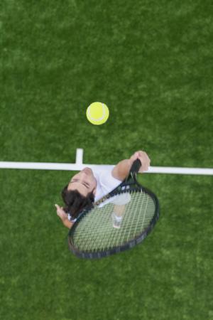 tosses: Man playing tennis