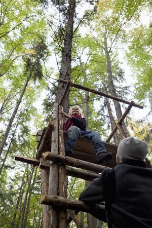 scaling: Boy on a perch