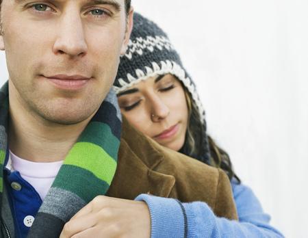 Portrait of couple facing camera