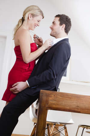 passions: couple caressing each other