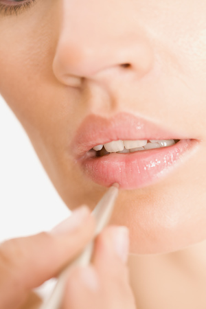applied: Glossy lips