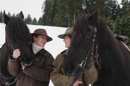 remoteness: Riding horses in Winter