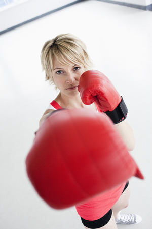 hits: Woman boxing into camera