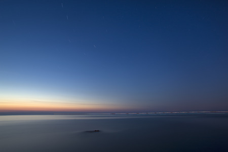 blue waters: Tuscan sea at dusk