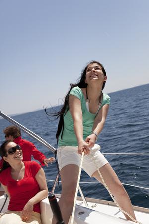 Team steering yacht
