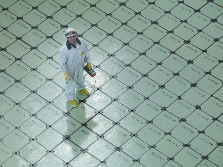 coveralls: Engineer on Nuclear Reactor Pile cap