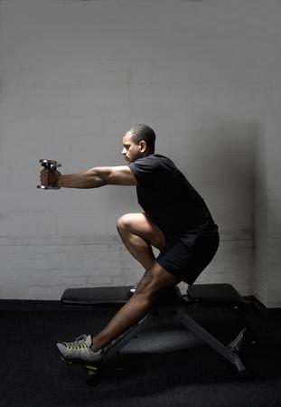 limber: Sportsman in gym