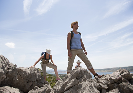 climbed: Hikers on coastal path LANG_EVOIMAGES